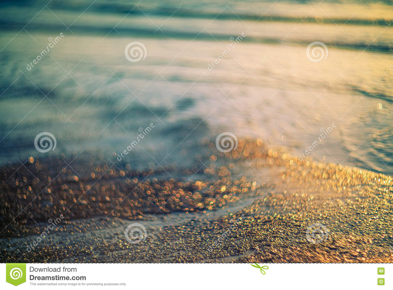Download Soft Color Sand And Water Background Stock Photo - Image of beach, bokeh: 73276080
