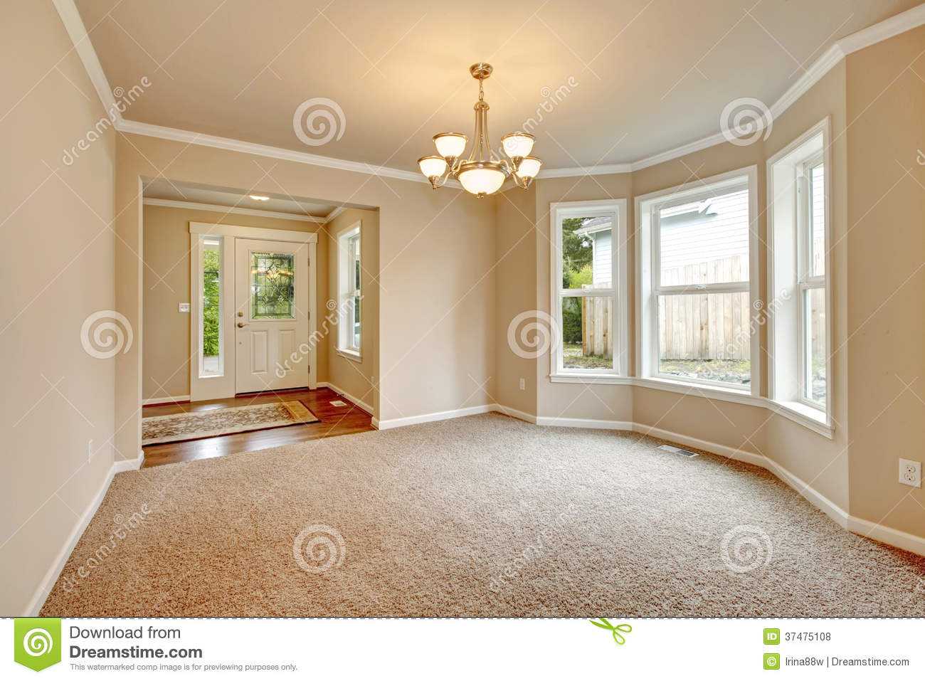 Soft Colors Empty Room With Angled Wall Royalty Free Stock