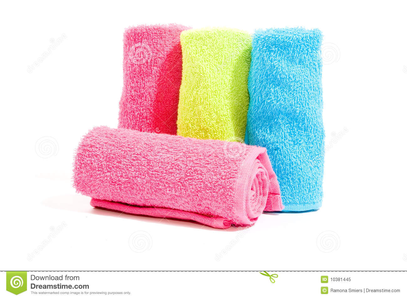 soft cotton towels royalty free stock photo