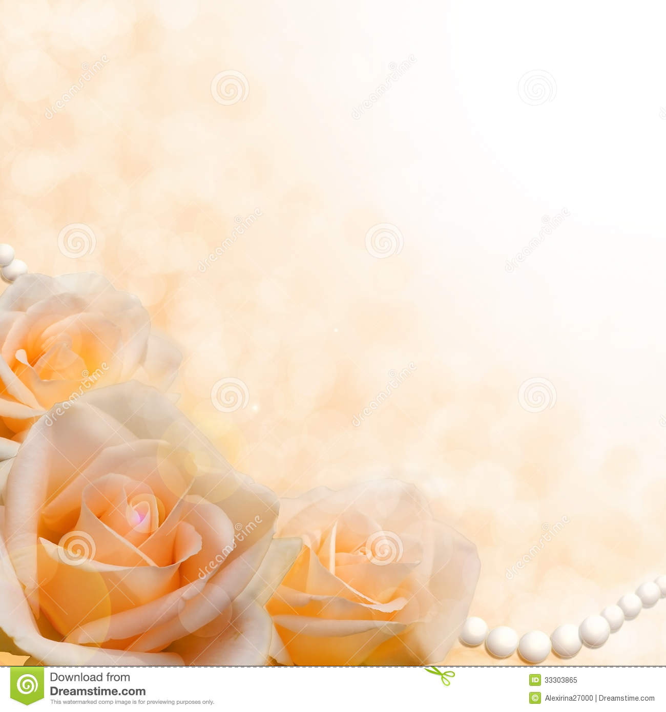 Soft cream roses on blurred background stock image image for Cream rose wallpaper