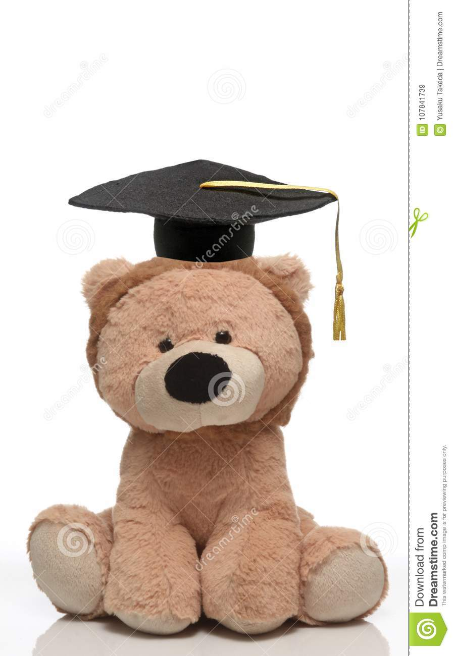 7c32d2fc28c A Soft Toy Wearing A Graduation Cap. Stock Image - Image of academic ...