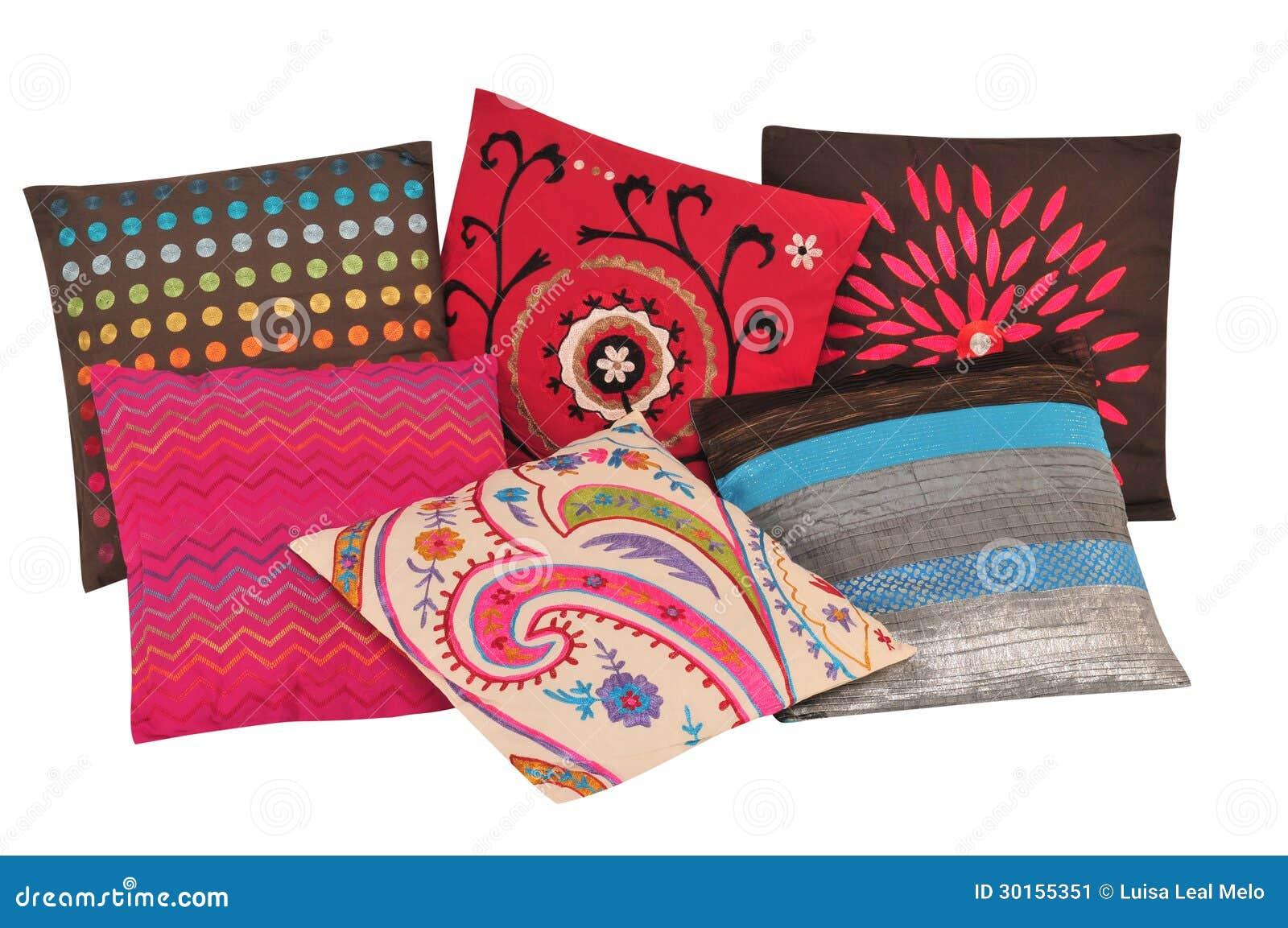 Large Soft Decorative Pillows : Cushions. Stock Image - Image: 30155351