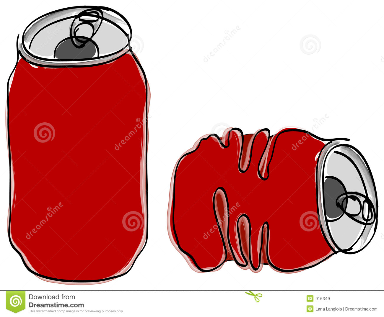 Soft-drink can stock vector. Illustration of carbohydrate - 916349