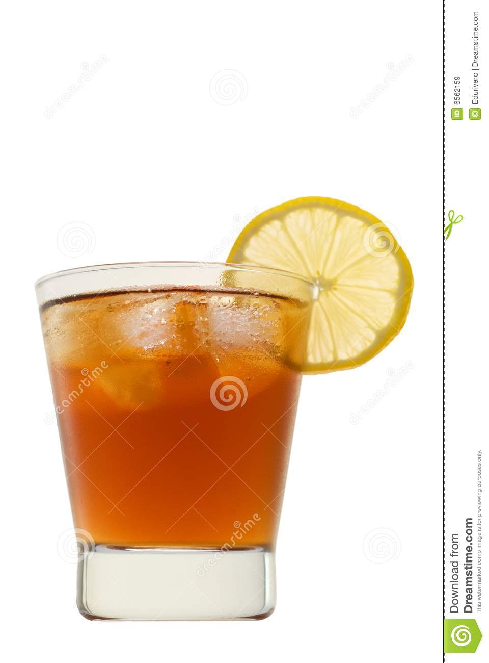Soft drink with lemon isolated