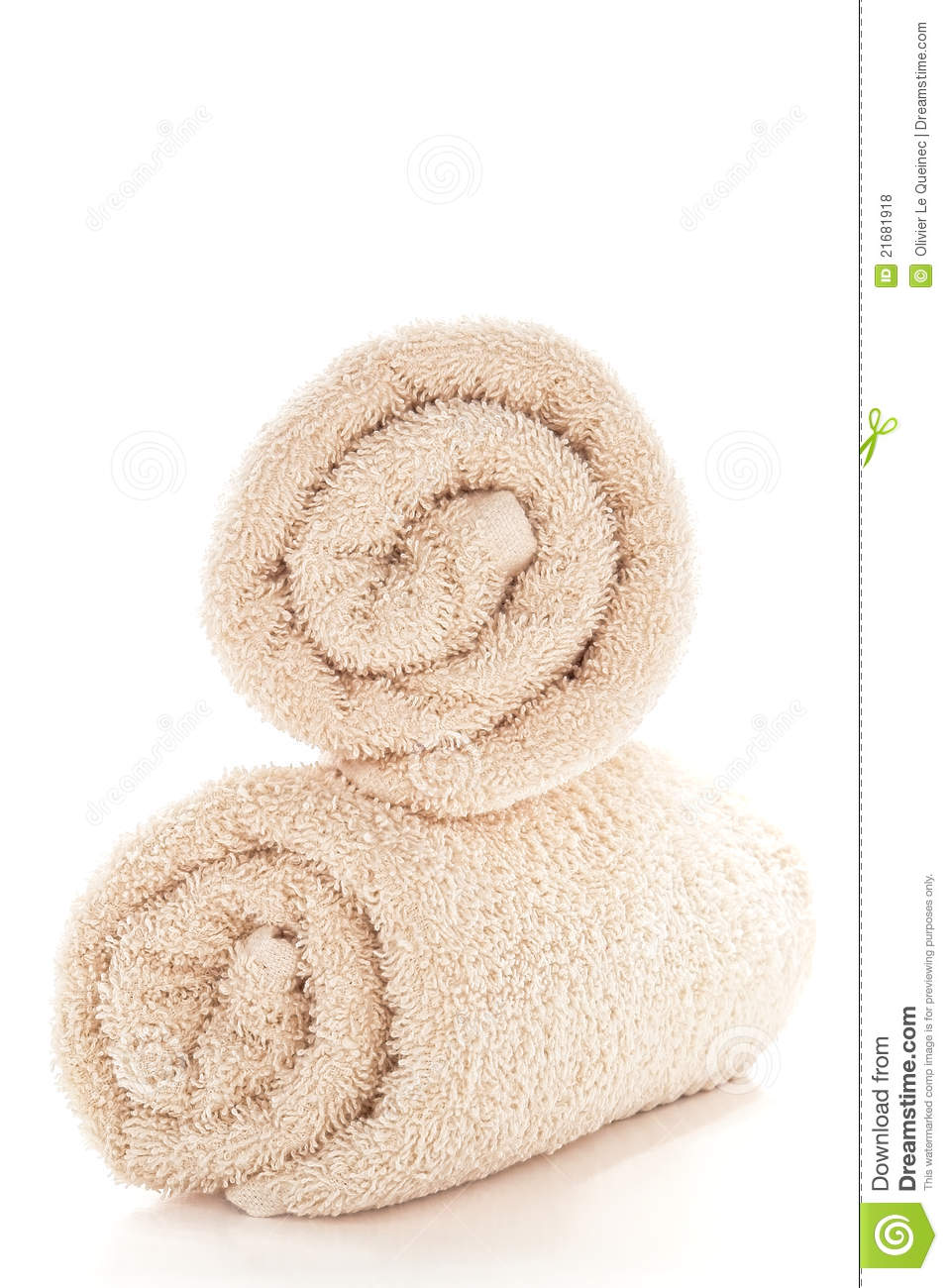 soft and fluffy beige cotton bath towels royalty free