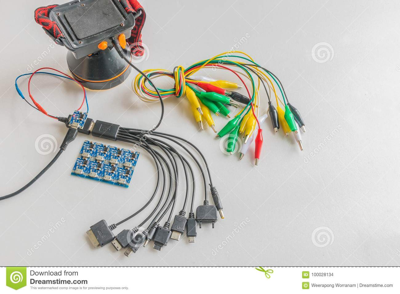 Soft Focus The Multipurpose Battery Charger Circuit Board Power Electronic Wiring Cord Mechanic