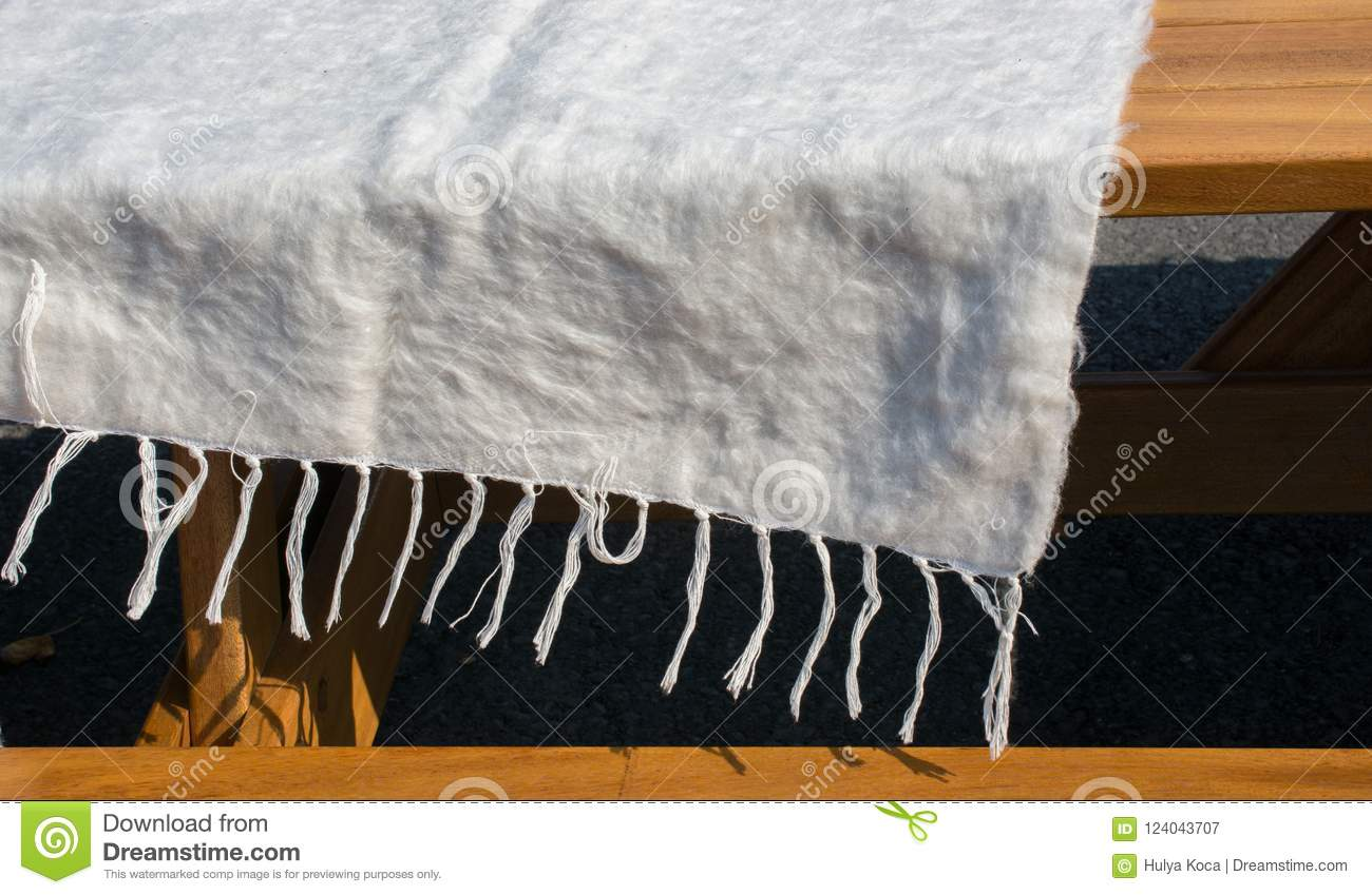 hairy woolen textile as fabric texture background