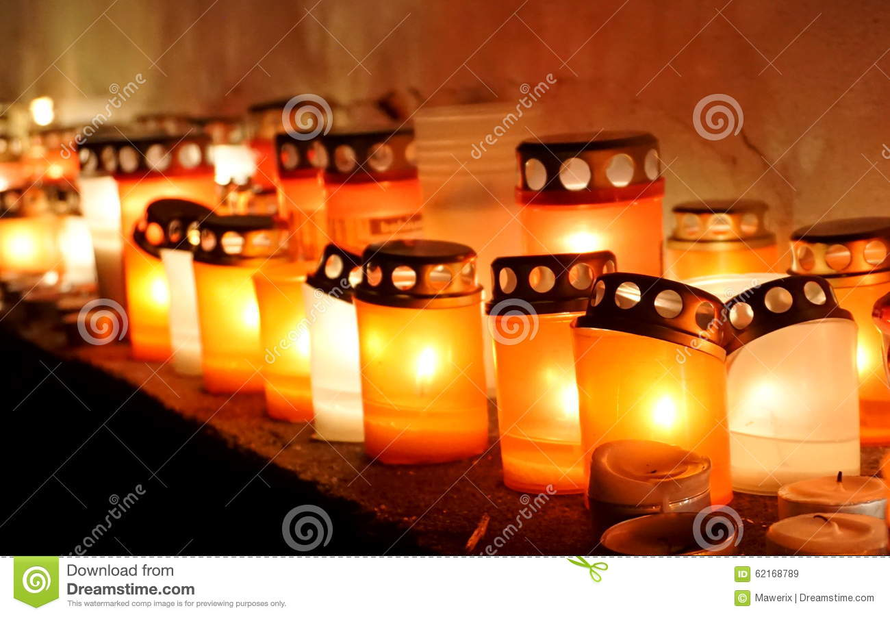 Soft light from candles