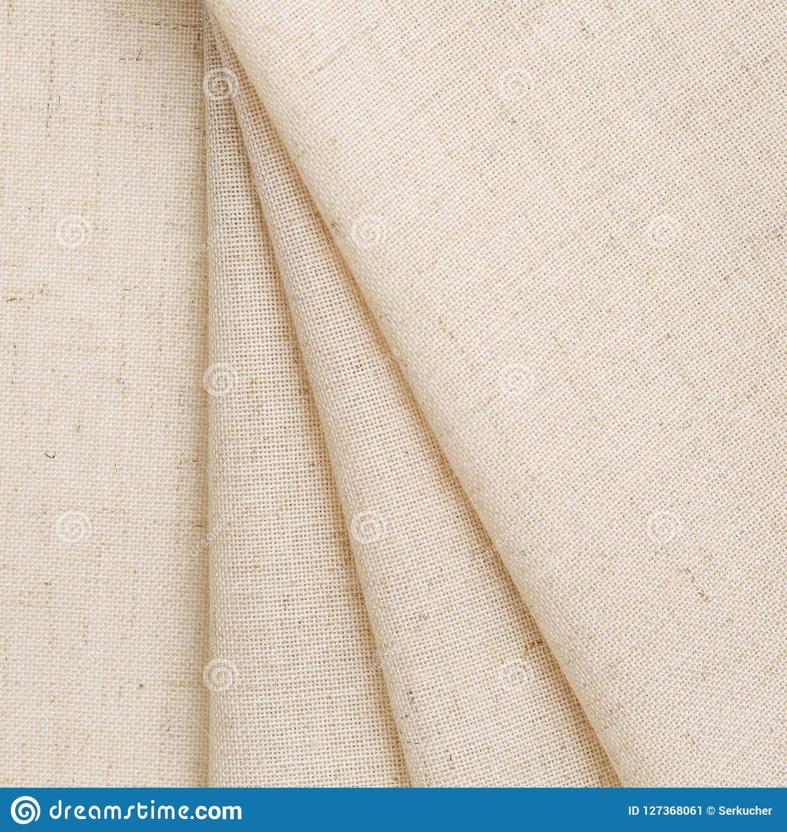 Soft Linen Fabric For Clothing  Background With Natural