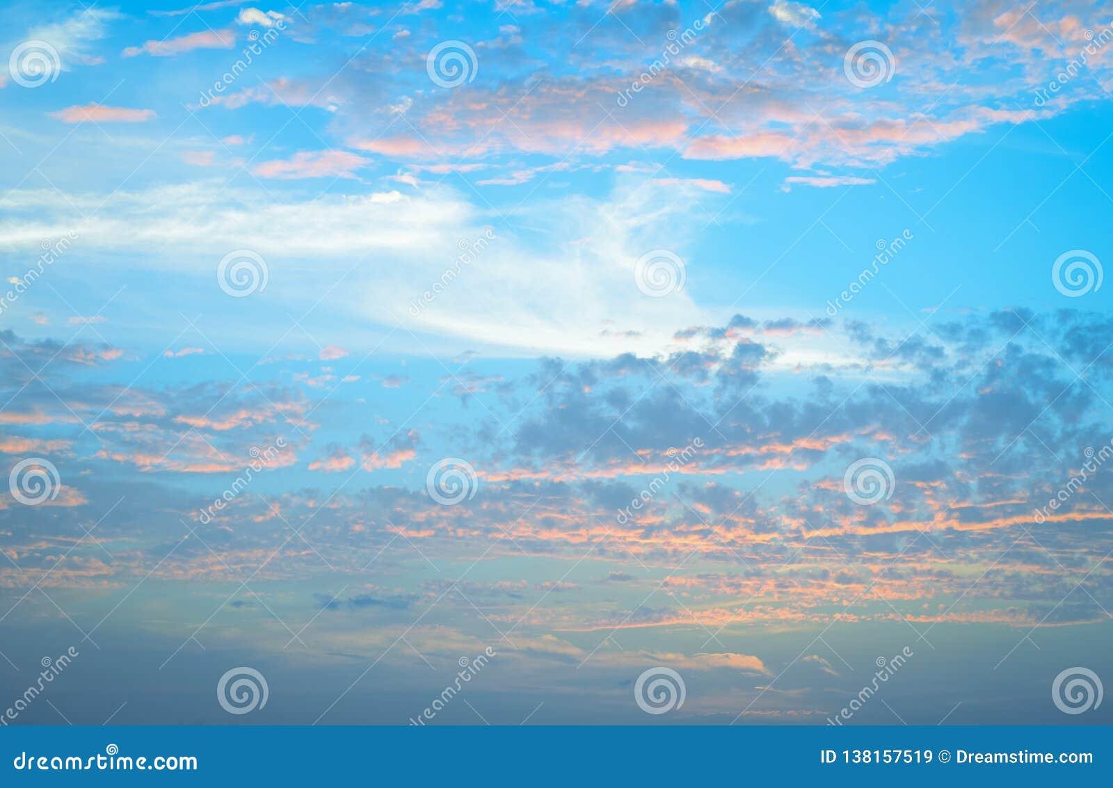 Soft pastel blue sky