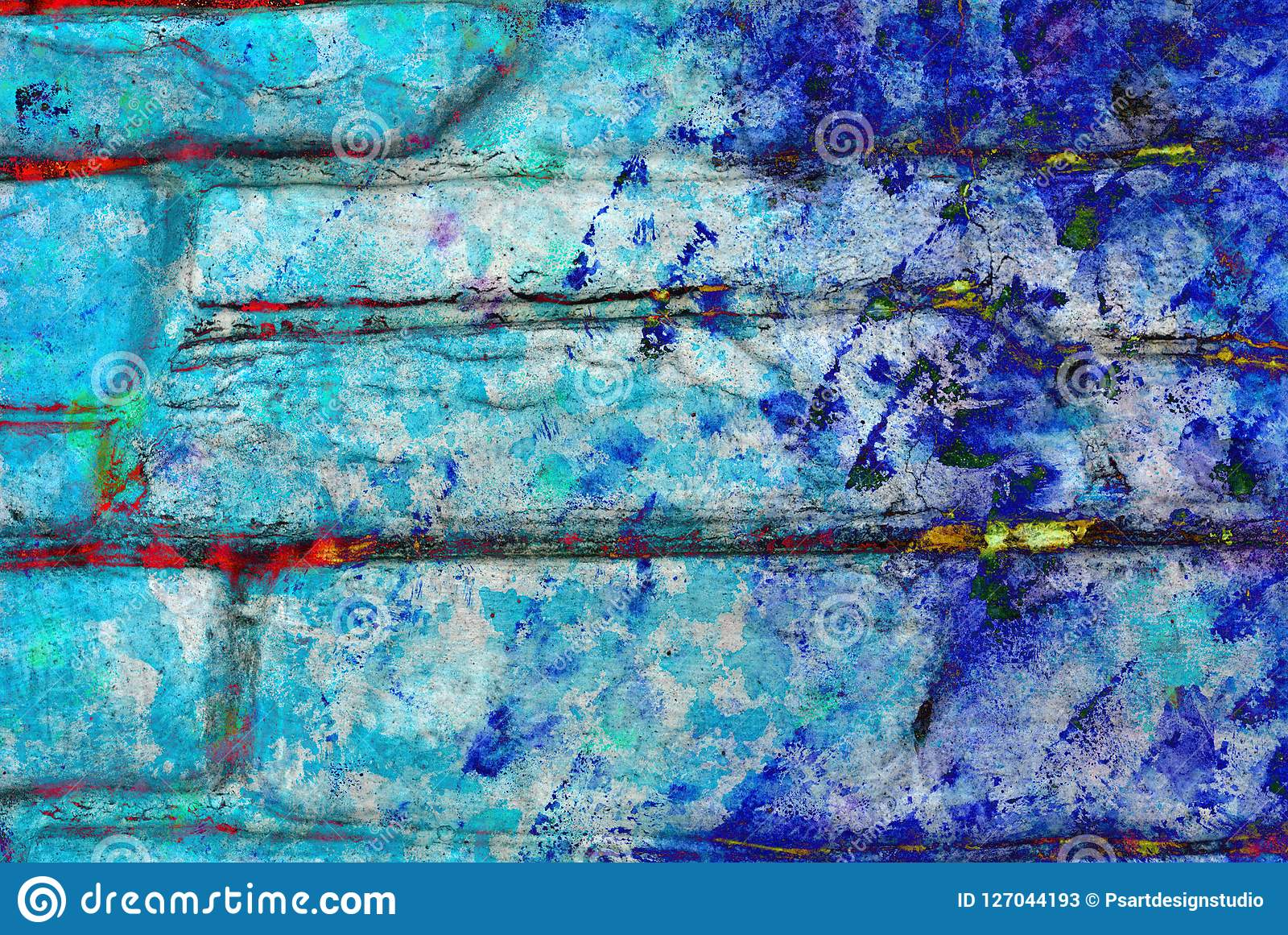 Mixed Media Artwork Abstract Colorful Artistic Painted