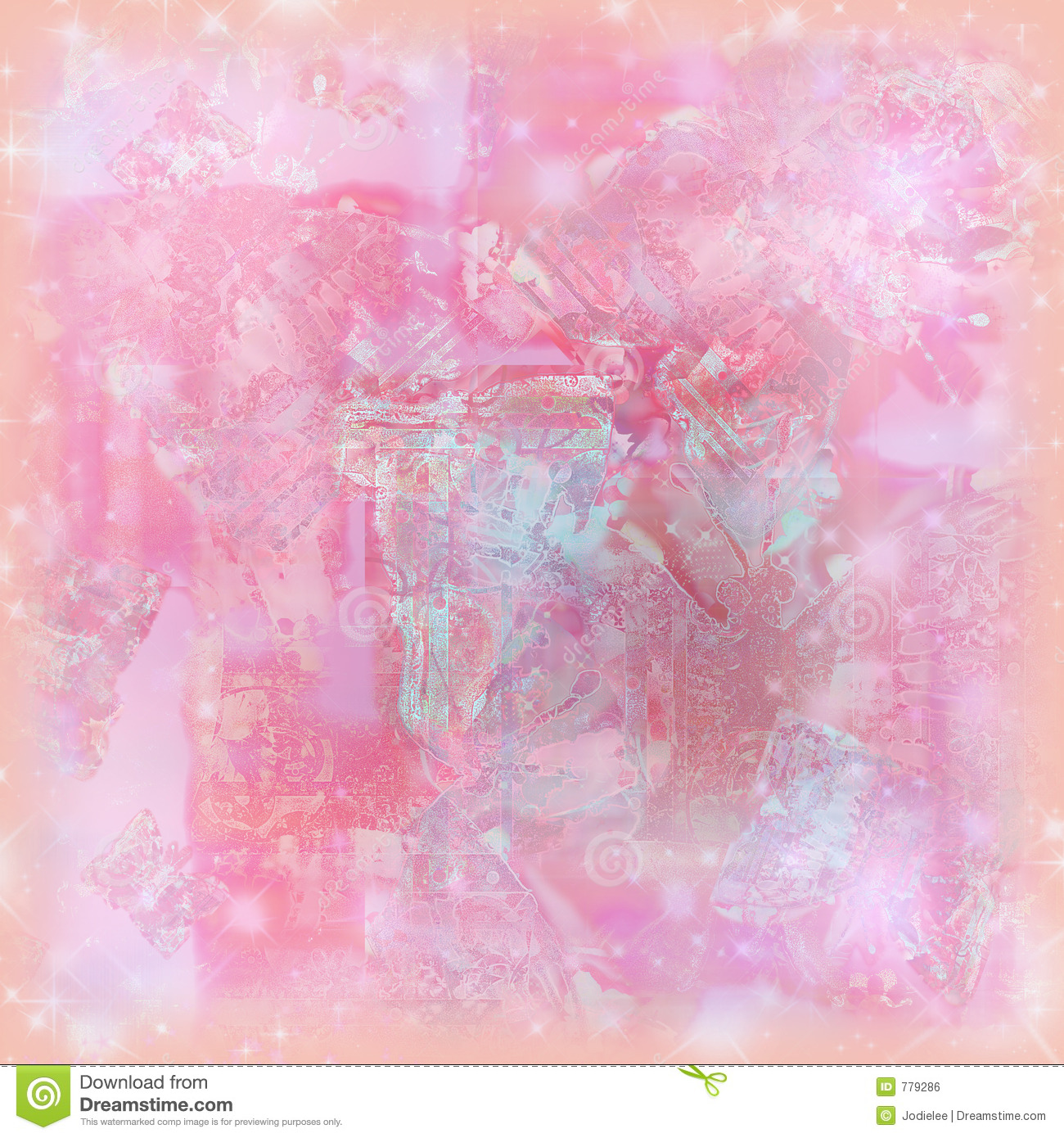 Soft pastel sparkle watercolor background for art and scrapbooking