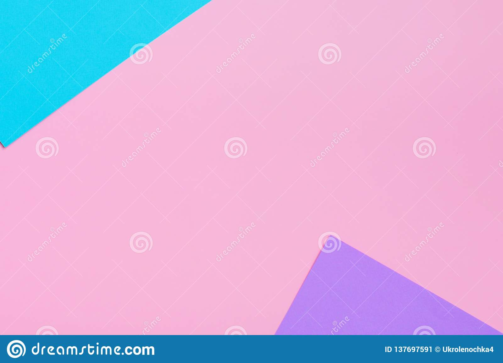 Soft pink, blue and purple background. Colorful texture. Flat lay. Minimal concept. Creative concept.