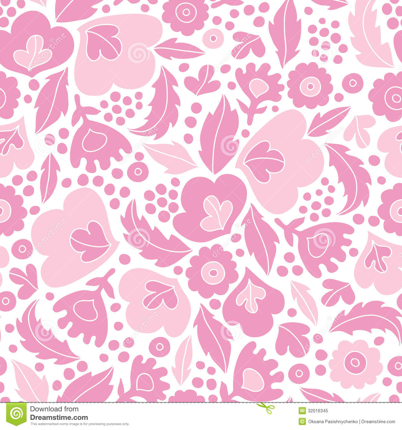 Seamless pink floral pattern - photo#37