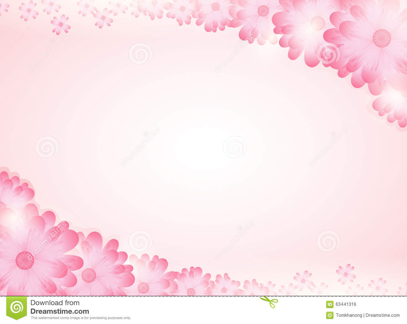 Soft Pink Flower Bright Background Stock Vector Illustration Of