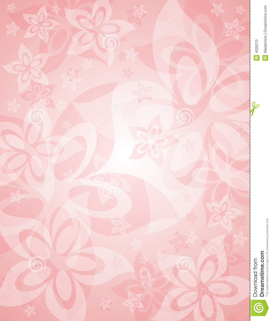 Soft Pink Spring Floral Background Stock Illustration