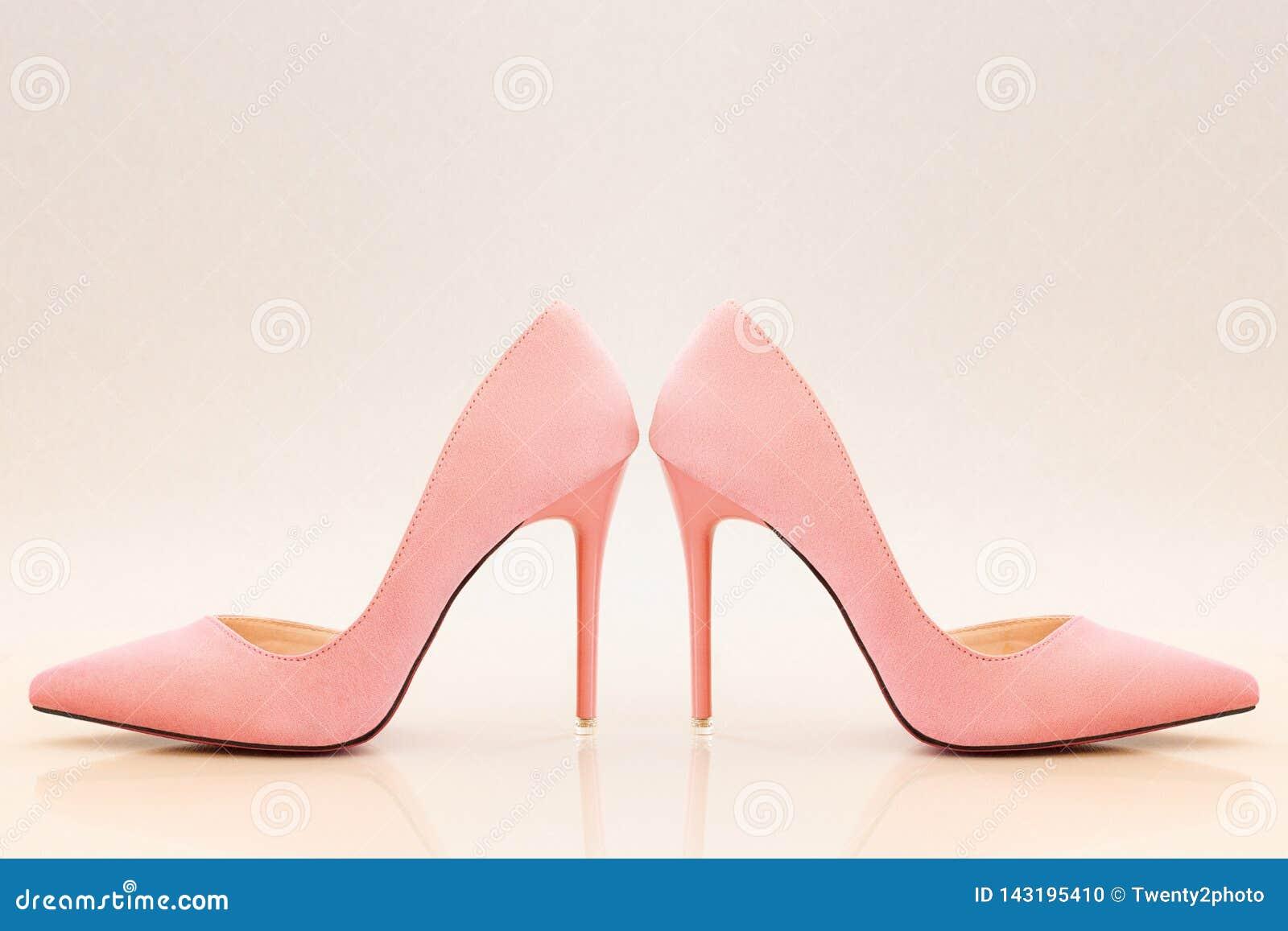 light peach heels