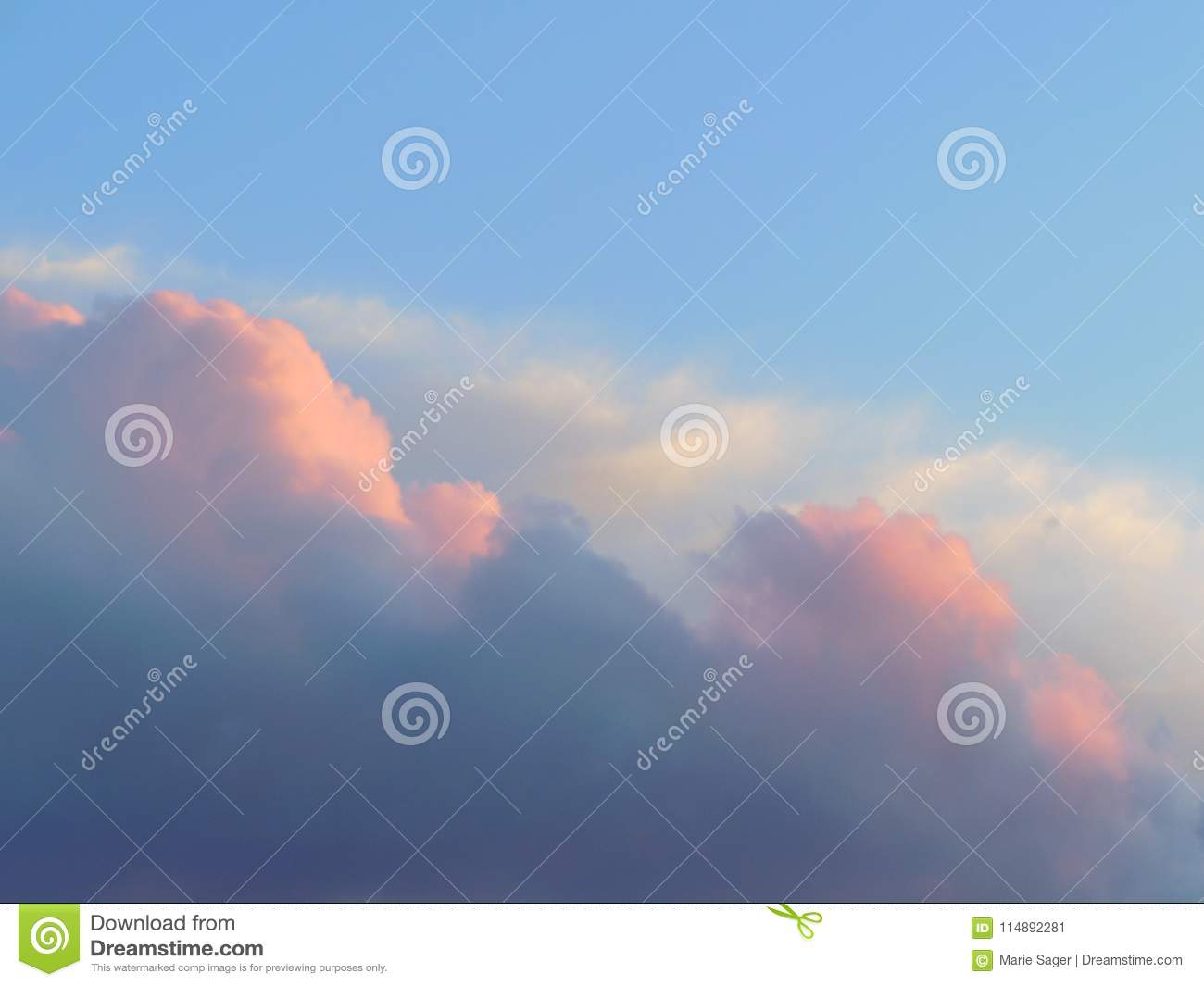 Soft Pink and White Clouds