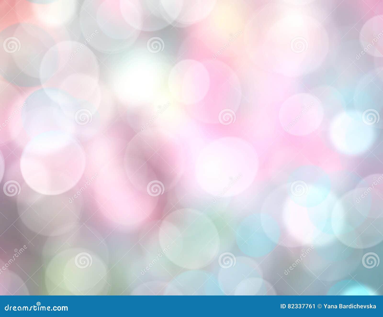 soft rainbow color lights blurred background bokeh defocused light backdrop spring wallpaper 82337761