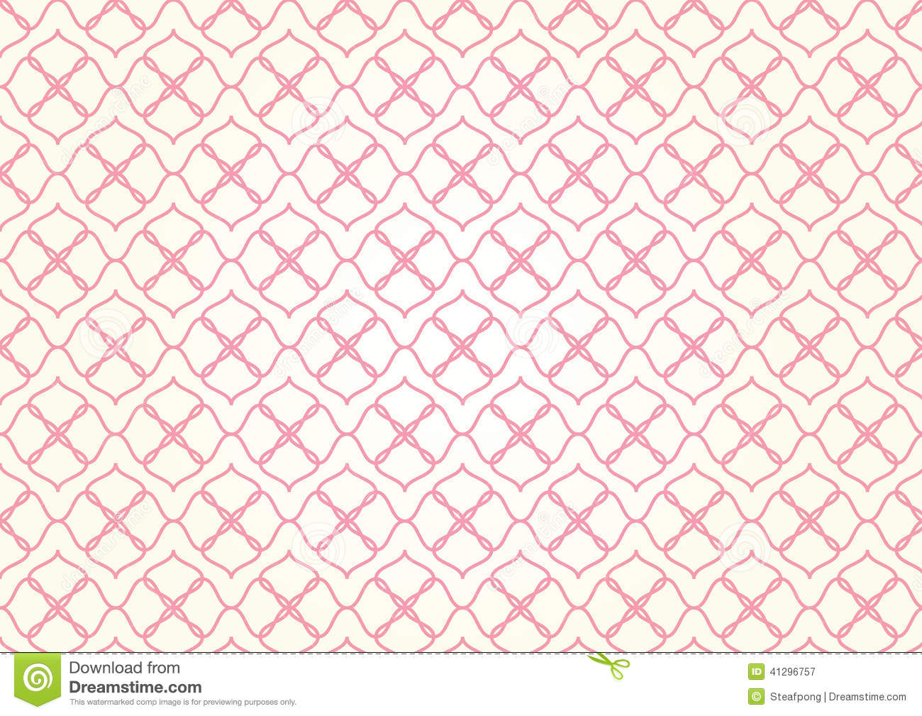 soft red flower pattern on pastel color stock vector