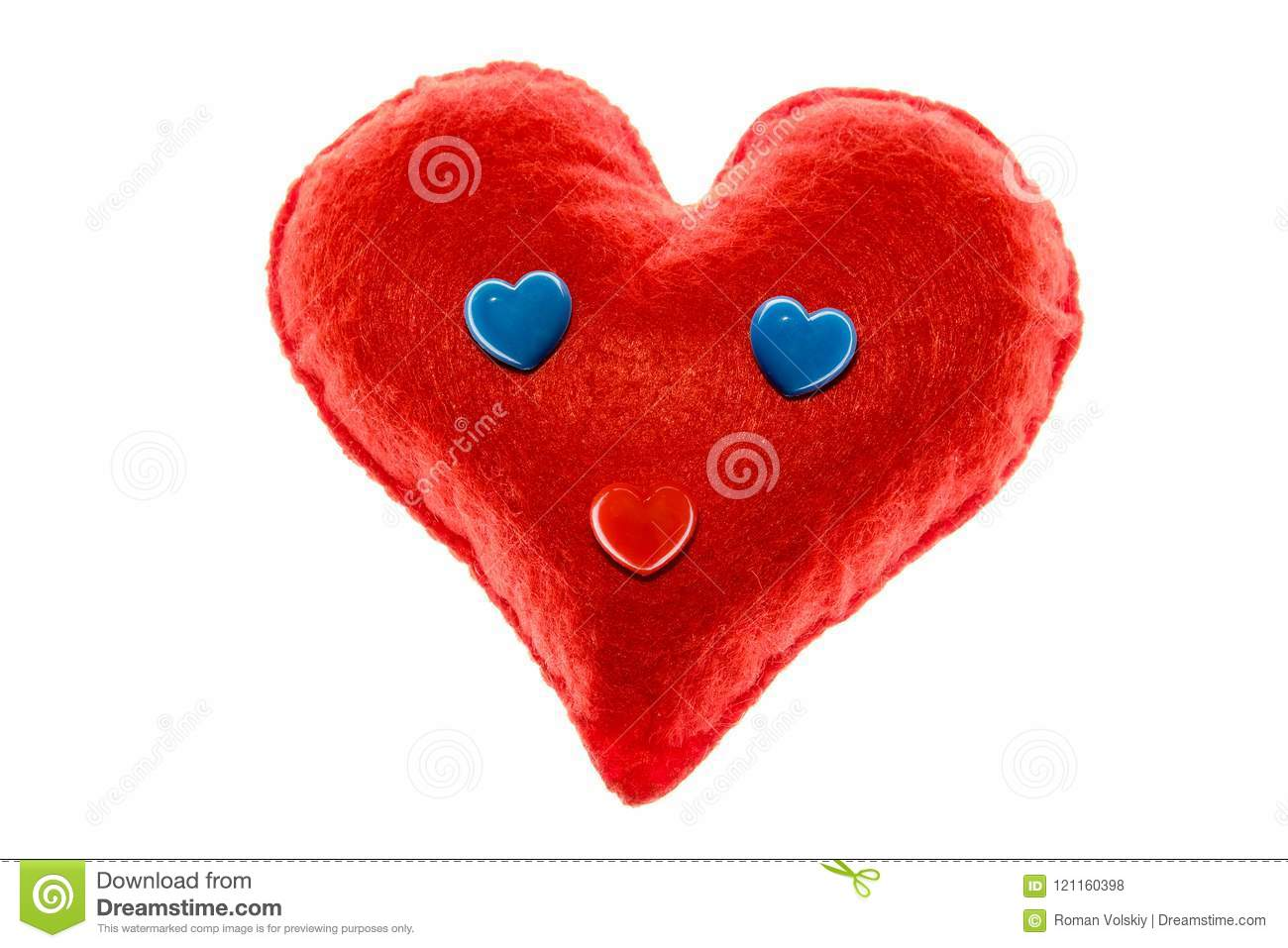 Soft Red Heart Emotion With Blue Eyes A Symbol Of Love And