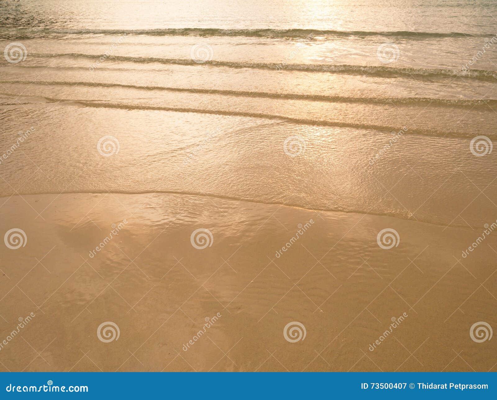 Soft Orange Color Soft Sea Wave Sand Beach At Sunset  Sunriseorange Color Of Sea