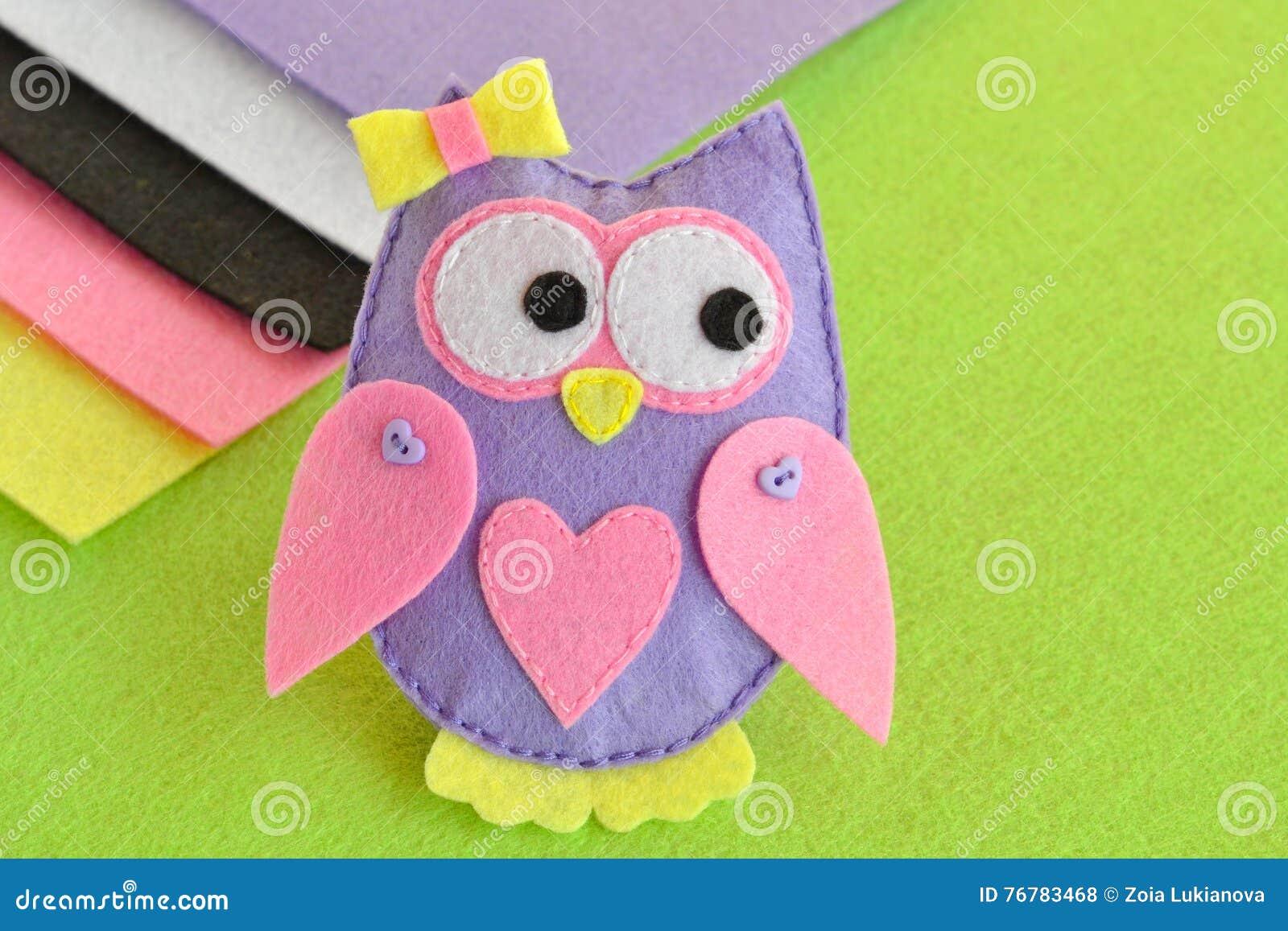 Soft Toy Felt Owl Sewing Handmade Crafts Stock Photo Image Of