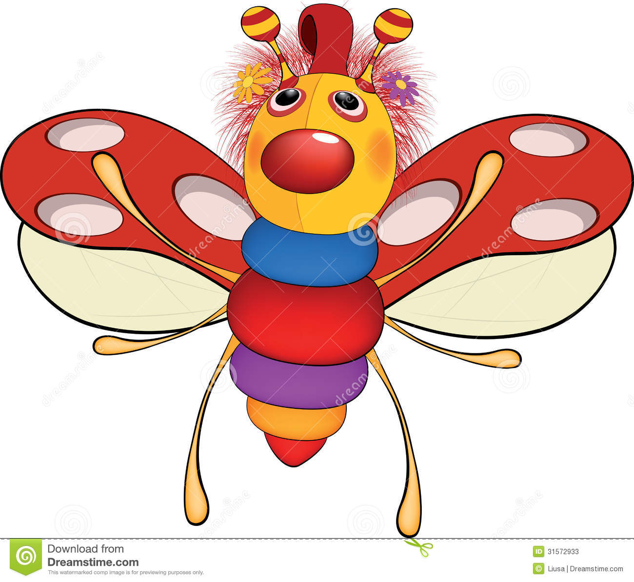 Soft Toys Cartoon : Soft toy a ladybird cartoon stock photos image