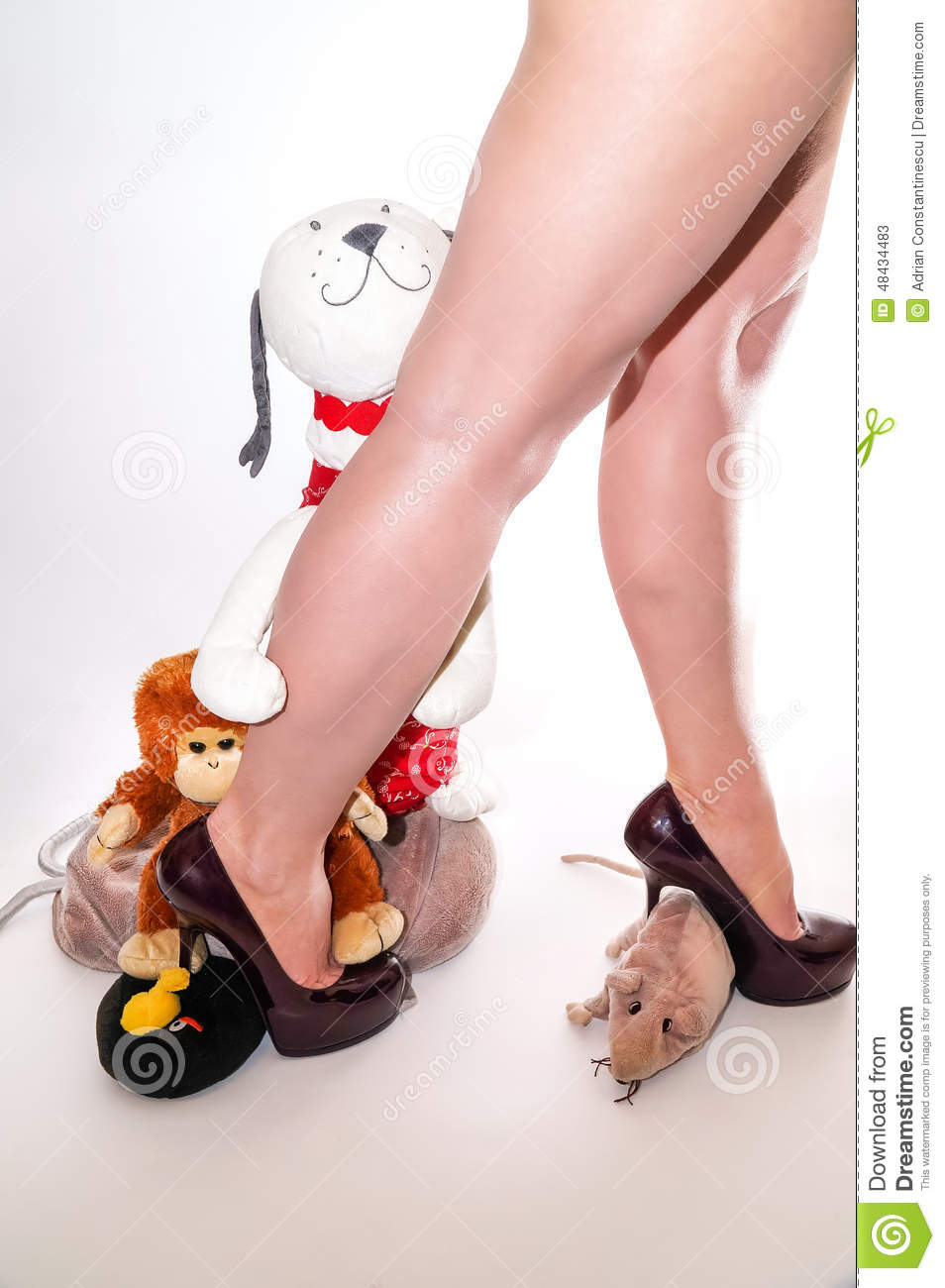 Toys For Legs : Soft toy with me stock photo image