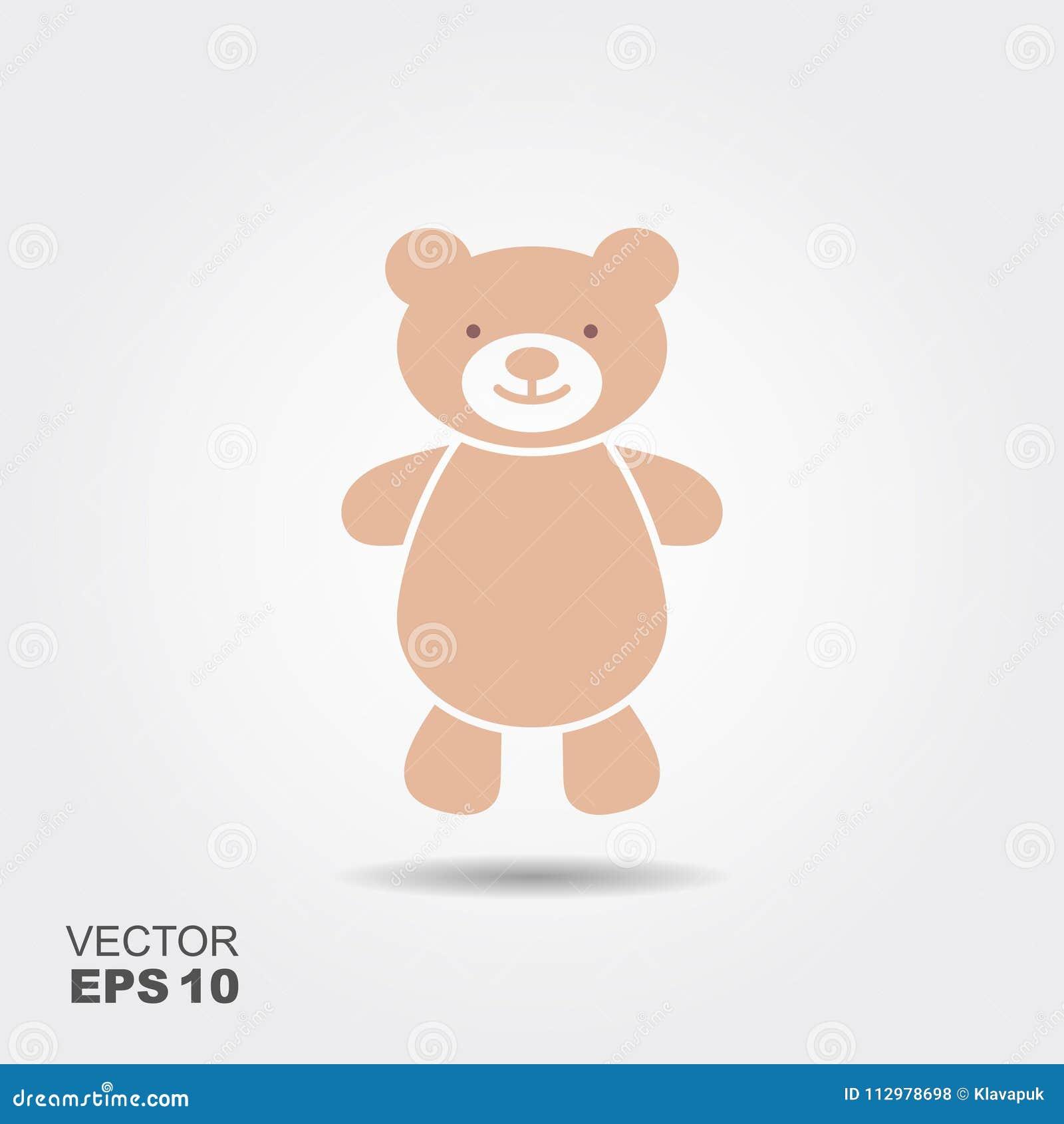 Soft toy, Teddy bear flat icon