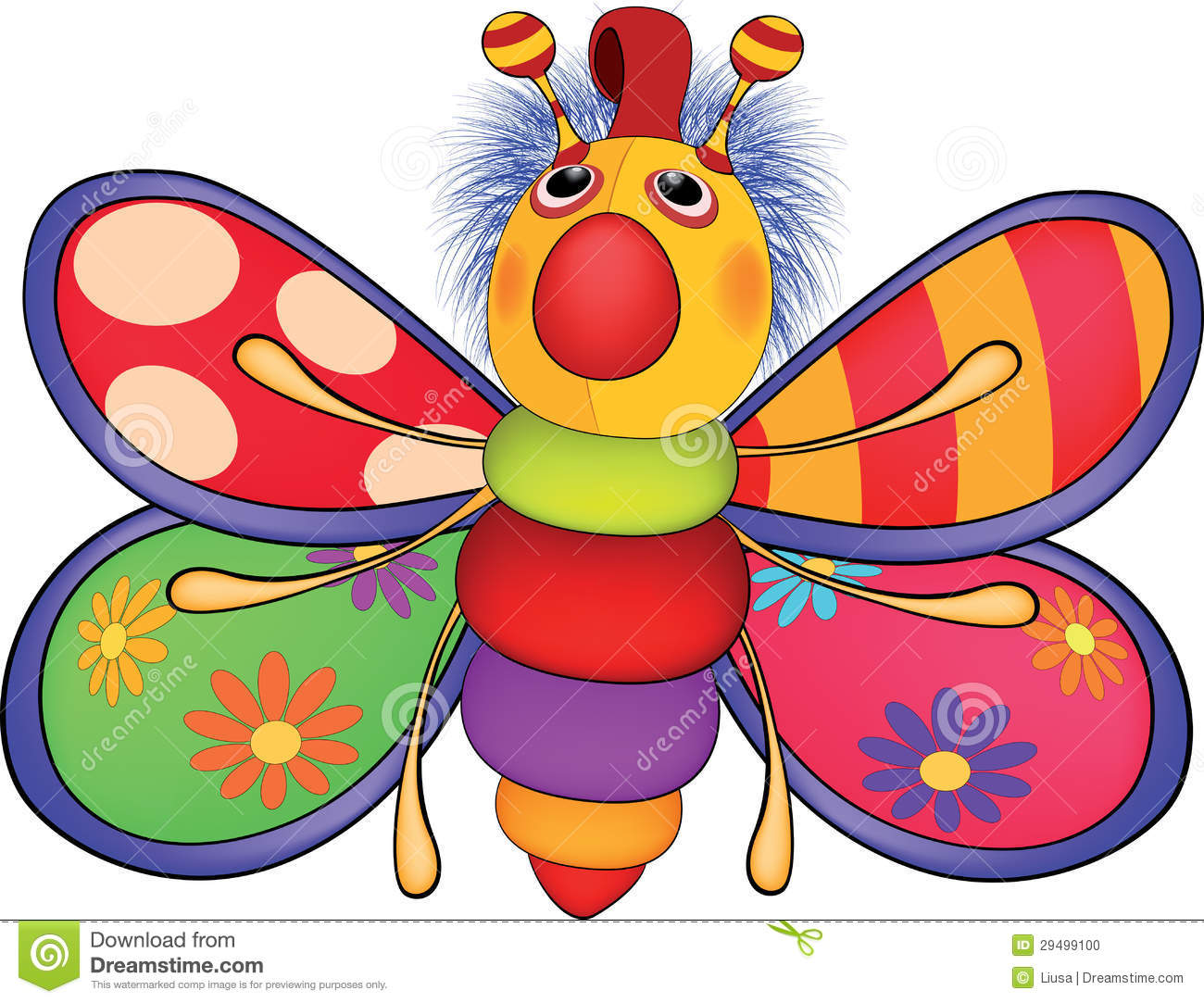 Soft Toys Clip Art : Soft toy the butterfly cartoon stock illustration