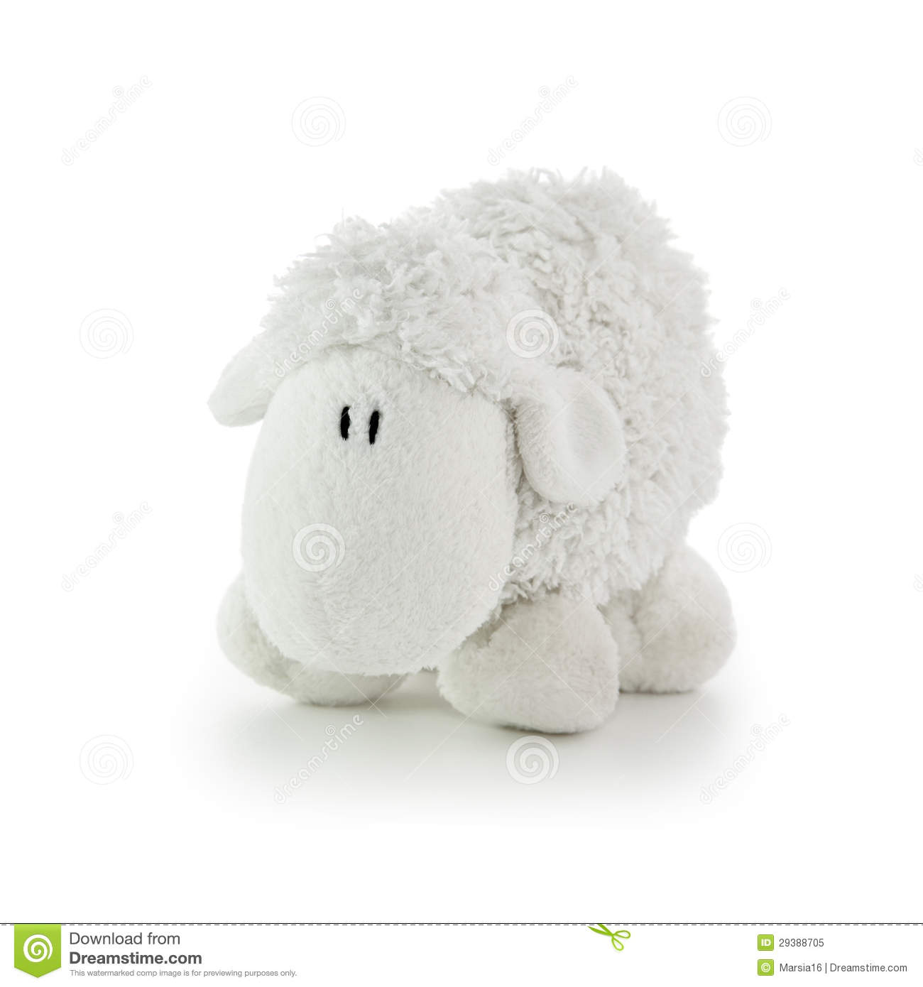 Soft Toy White Lamb Stock Image Image Of Gift Childrens 29388705