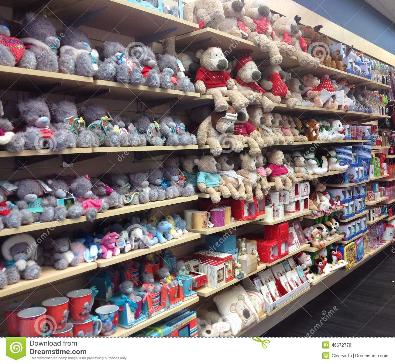 soft toys including bears on sale in a toy shop mr no pr no 0 318 0