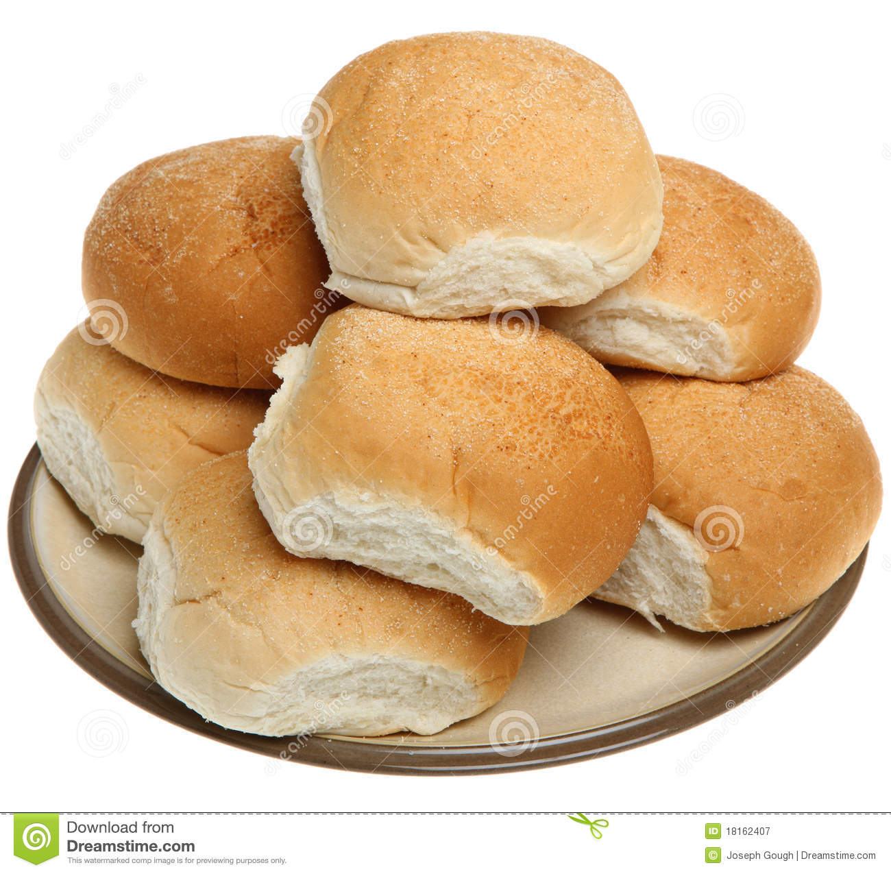 Soft White Bread Rolls Royalty Free Stock Photography ...