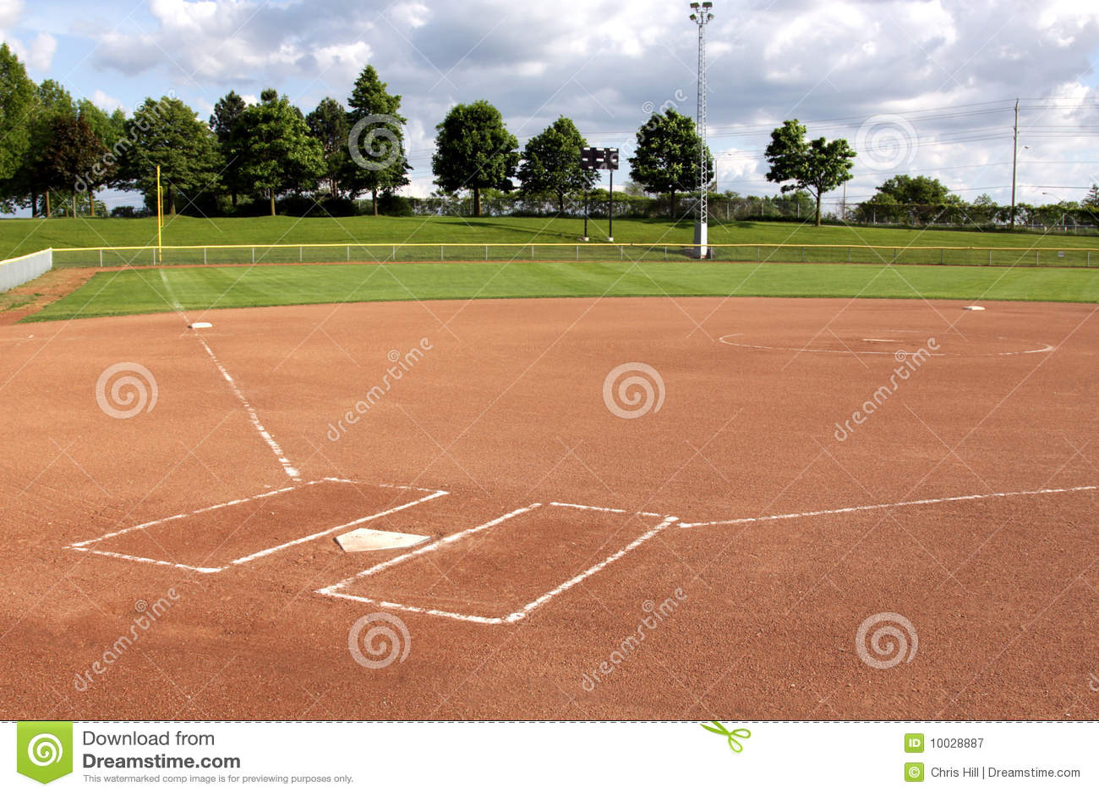 Softball Diamond Royalty Free Stock Photography - Image: 10028887