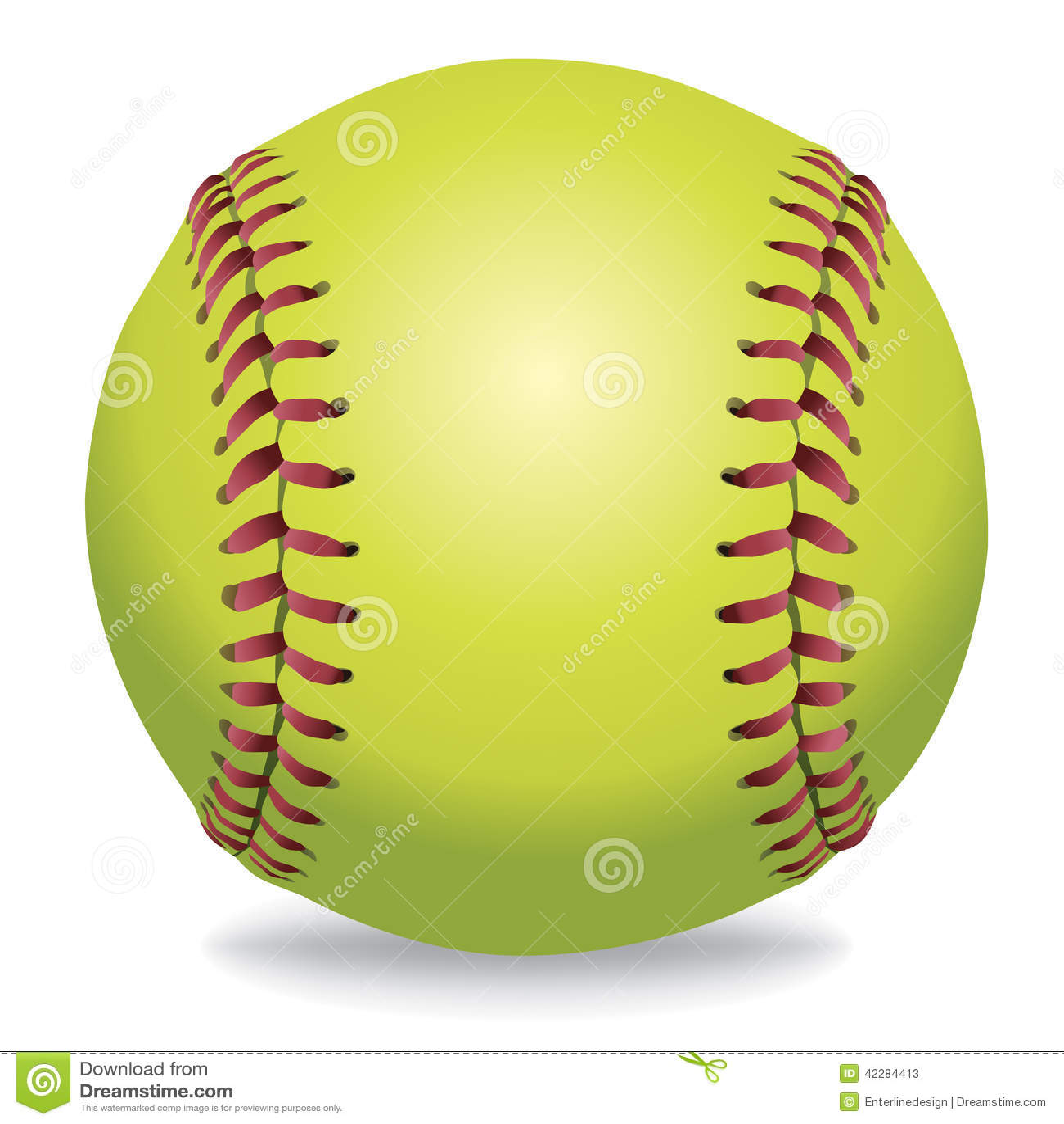 Softball en el ejemplo blanco
