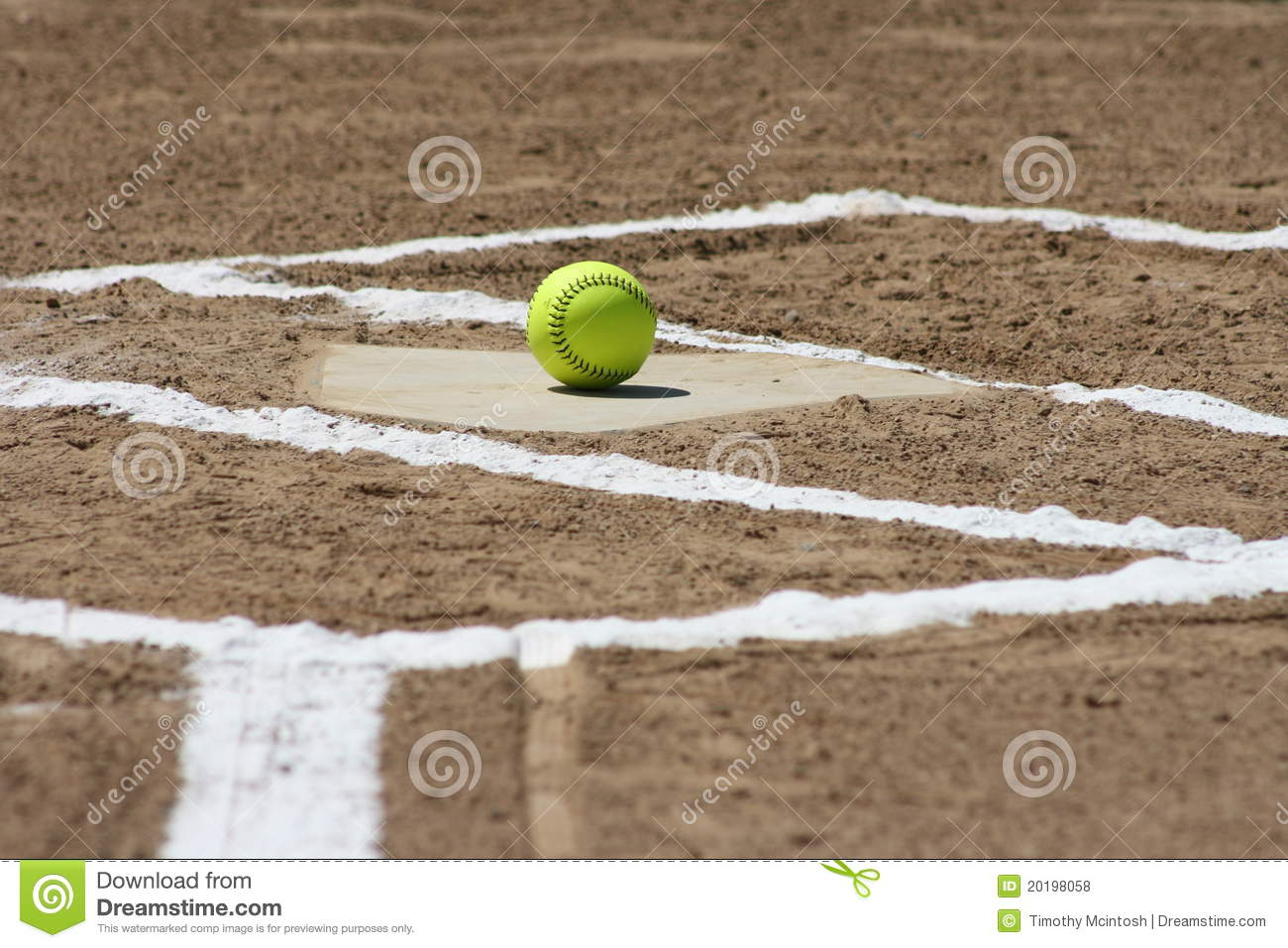 New Softball at home plate