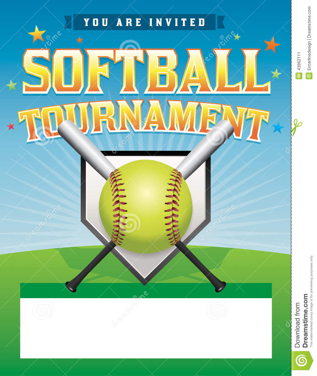 Baseball and Softball League Tournament Stamps — Stock Vector ...