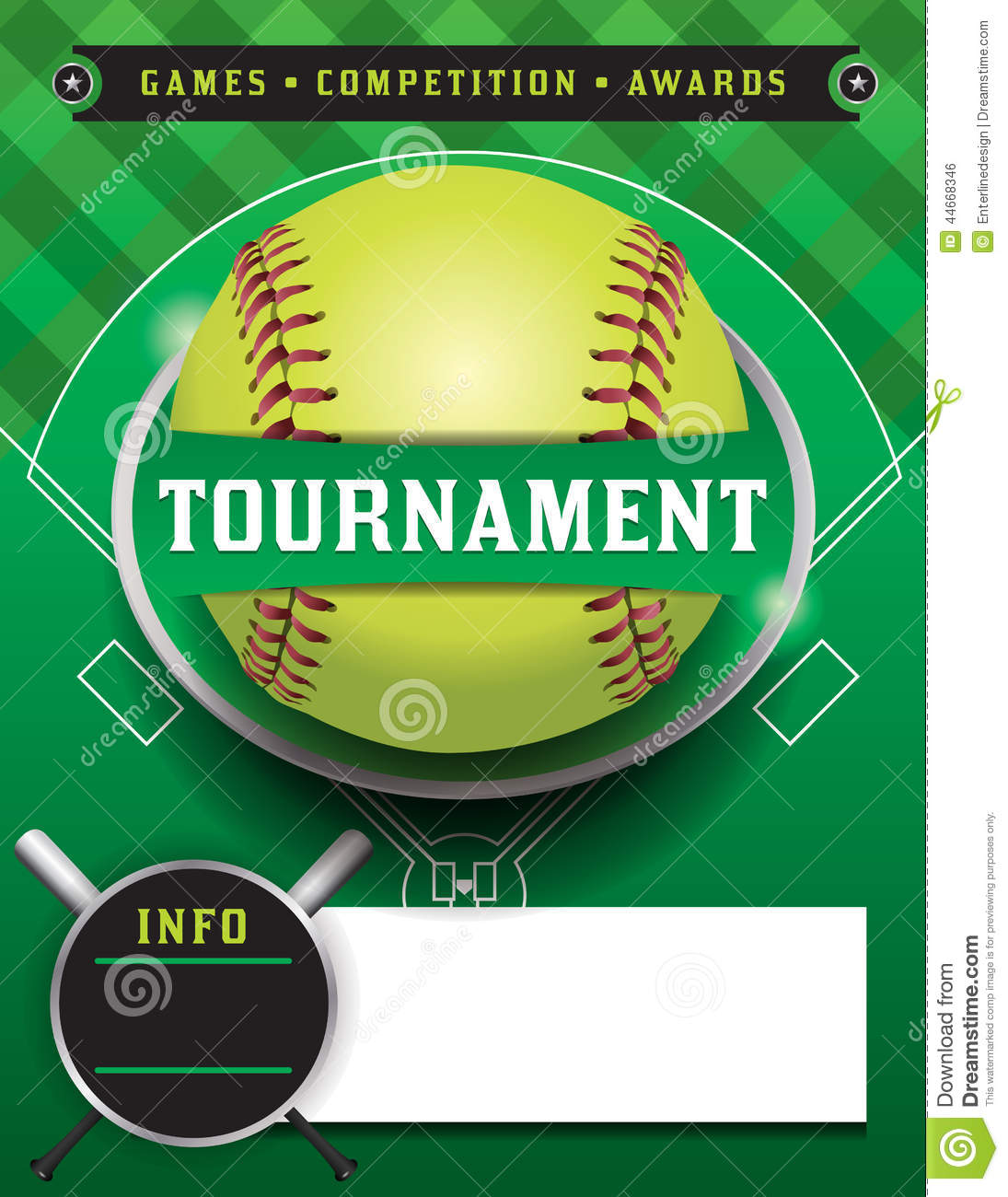 softball tournament template illustration stock vector image 44668346. Black Bedroom Furniture Sets. Home Design Ideas