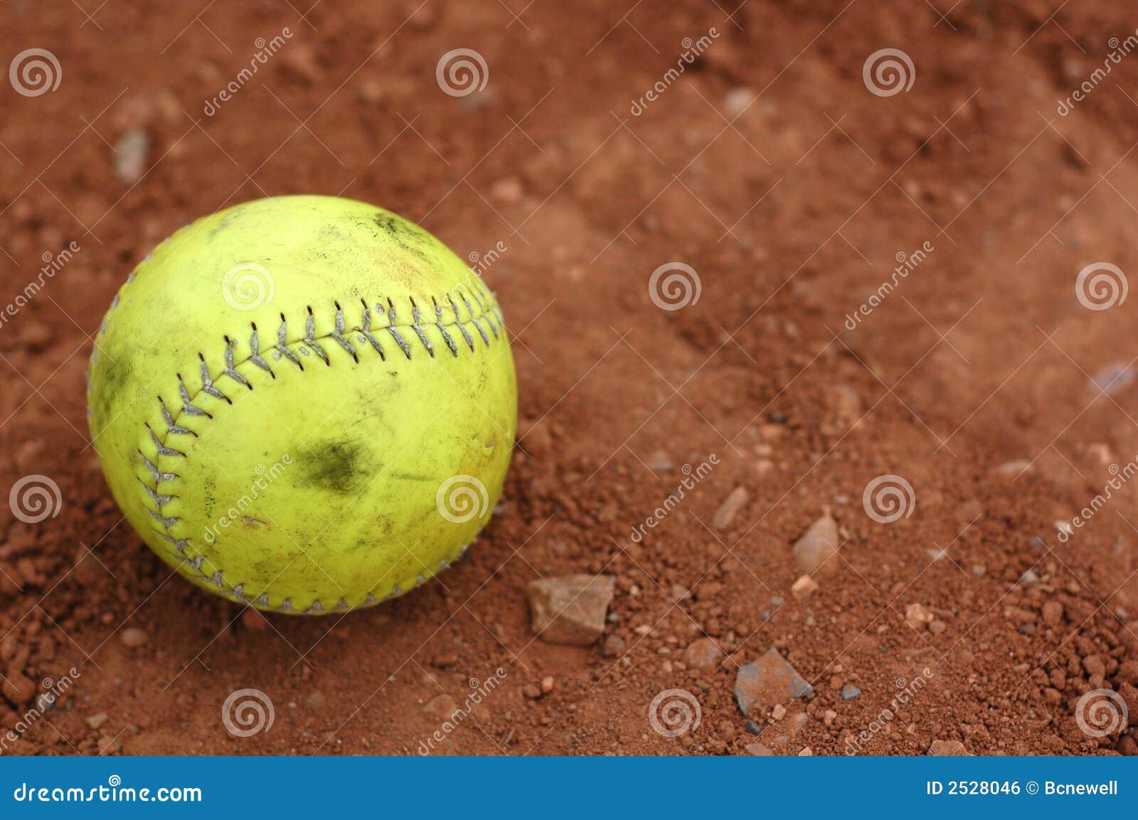 Softball, well used