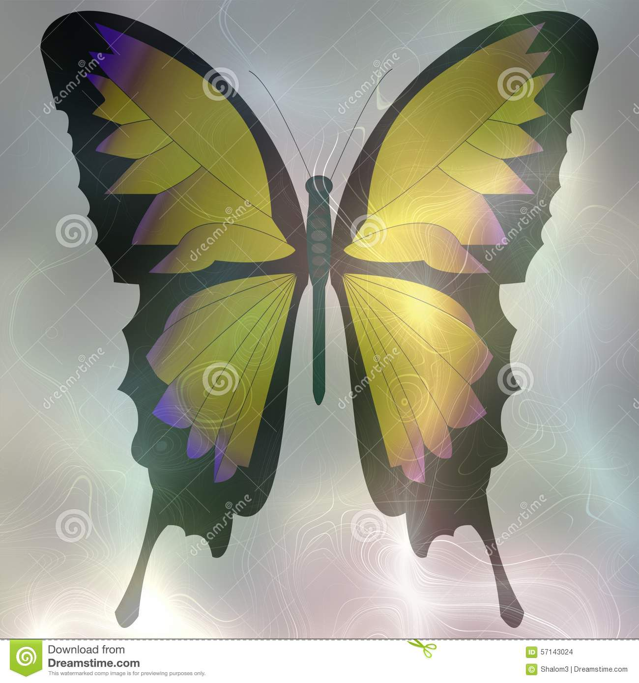 Softly Rendered Image Of A Butterfly With Pastel Colors To Smoke ...