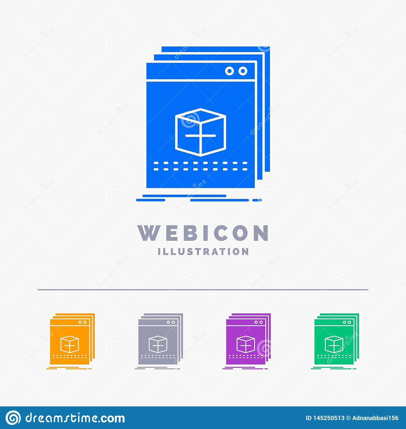 Software, App, Anwendung, Datei, Programm 5 Farbeglyph-Netz-Ikonen-Schablone lokalisiert auf Weiß Auch im corel abgehobenen Betra