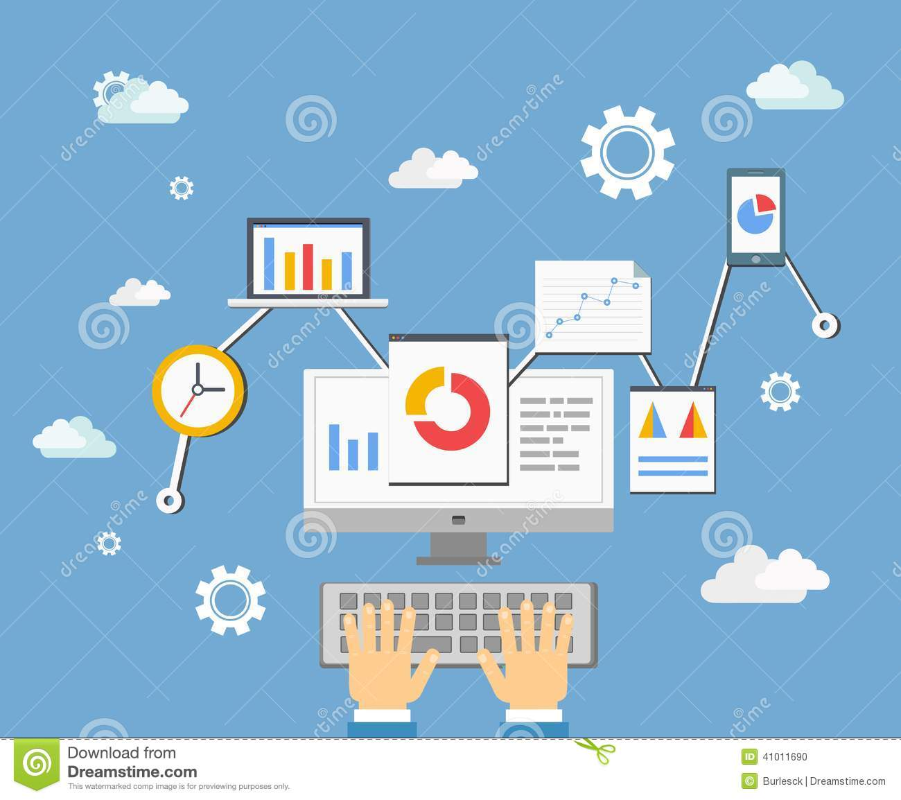 Software App Developer Concept Stock Vector Image 41011690
