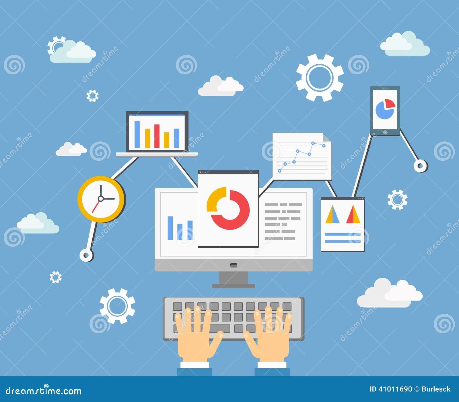 Software app developer concept stock vector image 41011690 Vector image software