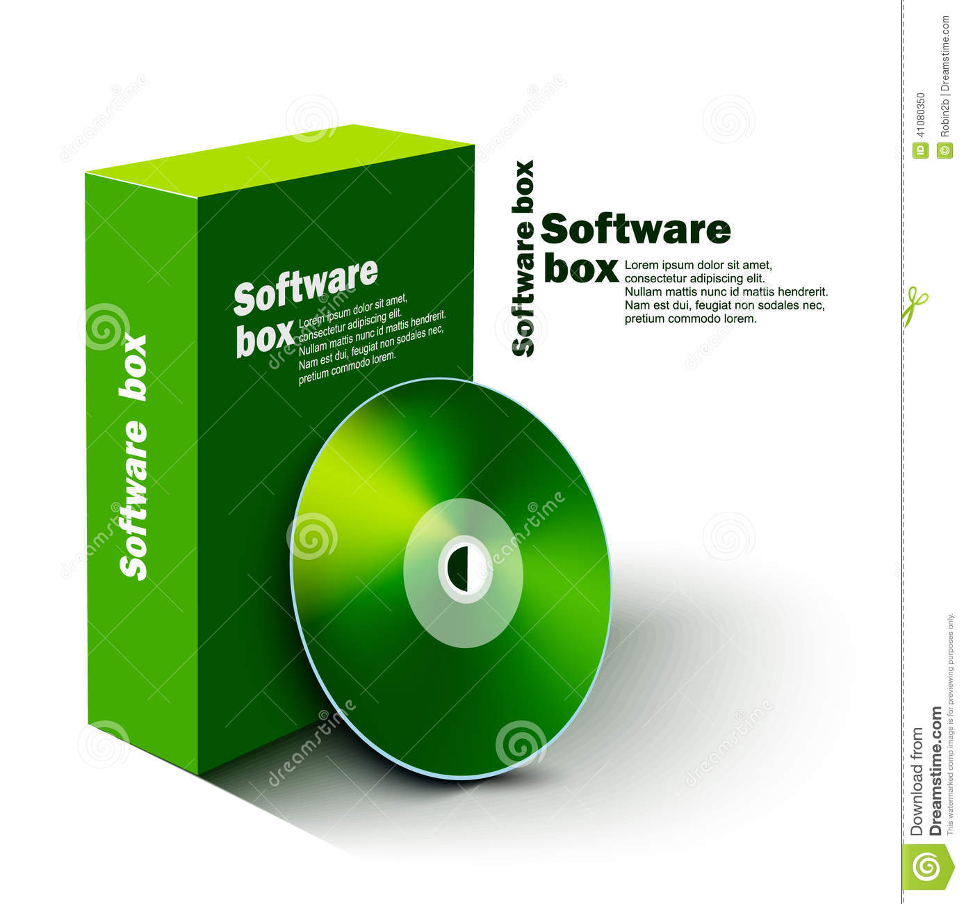 Software Box Stock Vector Image 41080350
