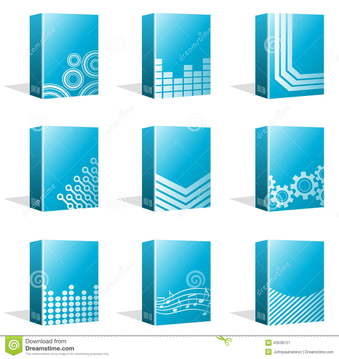 Software Boxes Ebook Cover Designs Stock Vector Illustration Of Information Icon 43538727