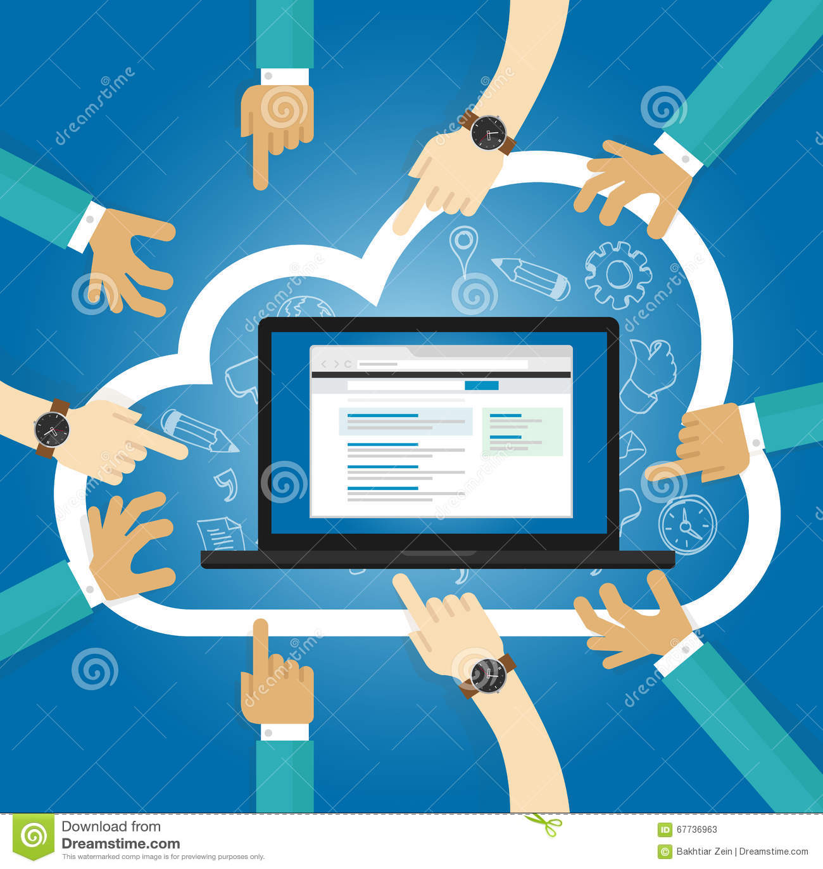 Software de SaaS como uma base da assinatura do Internet do acesso da aplicação da nuvem do serviço centralmente hospedou o softw