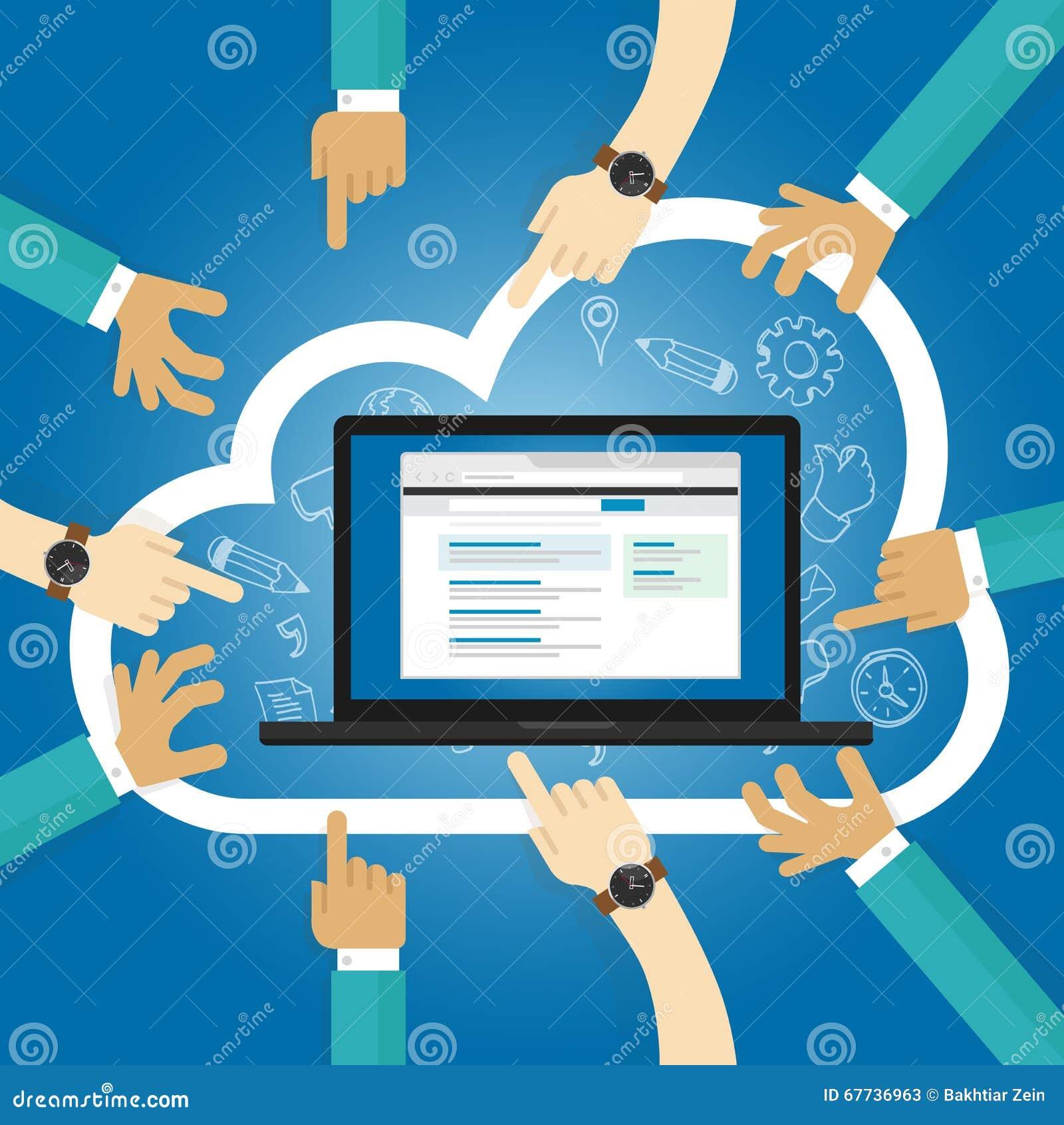 Software de SaaS como una base de la suscripción de Internet del acceso del uso de la nube del servicio centralmente recibió soft