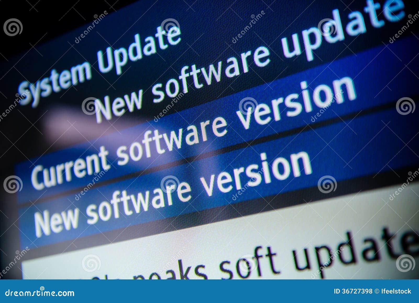 Software dell aggiornamento del sistema