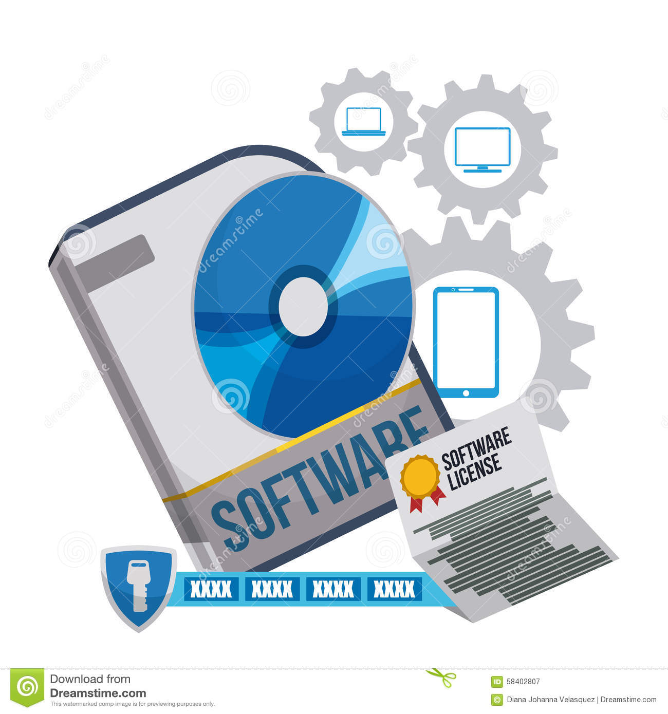 Software Design Stock Vector Image 58402807